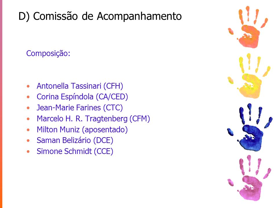 D) Comissão de Acompanhamento