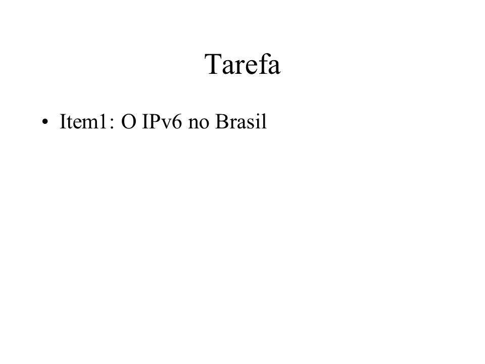 Tarefa Item1: O IPv6 no Brasil