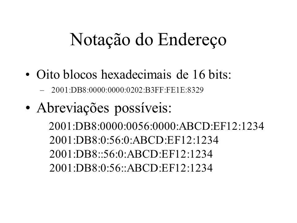 Notação do Endereço Abreviações possíveis: