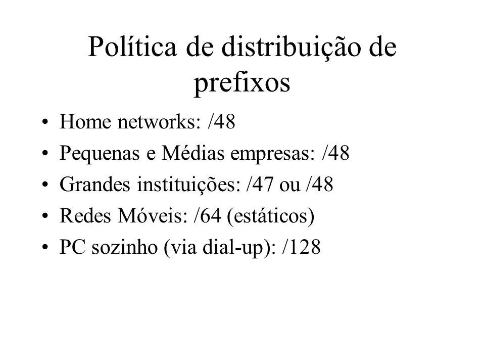 Política de distribuição de prefixos