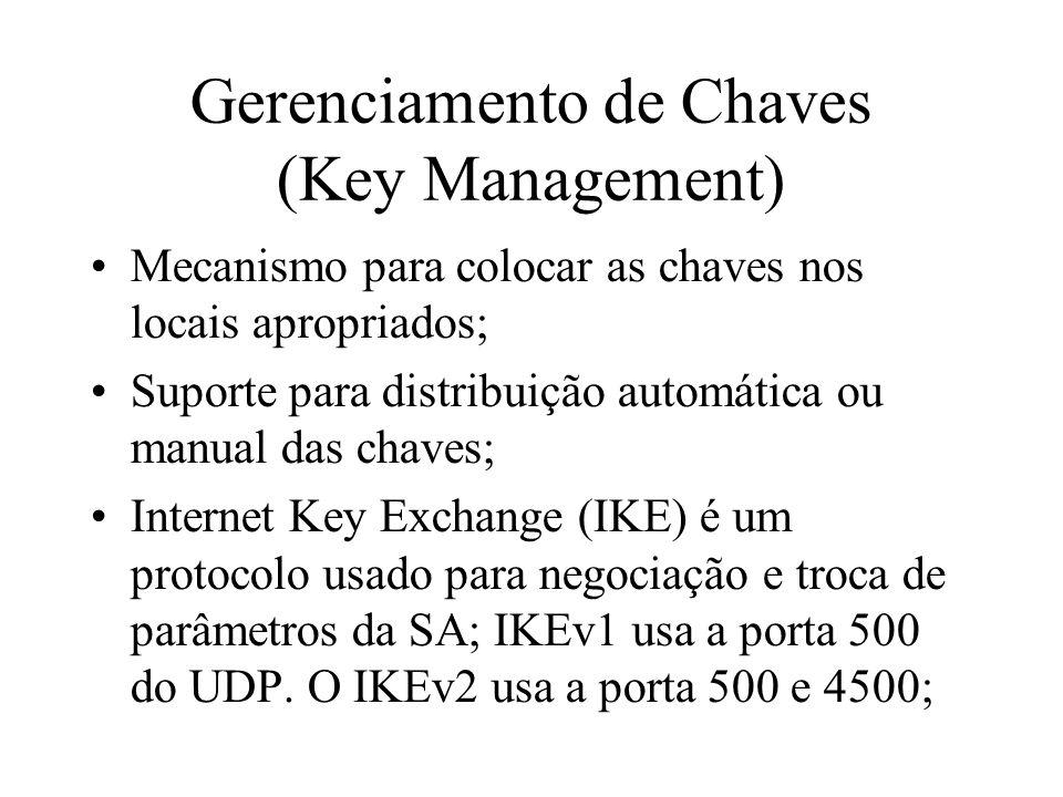 Gerenciamento de Chaves (Key Management)