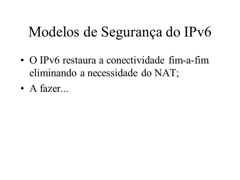 Modelos de Segurança do IPv6