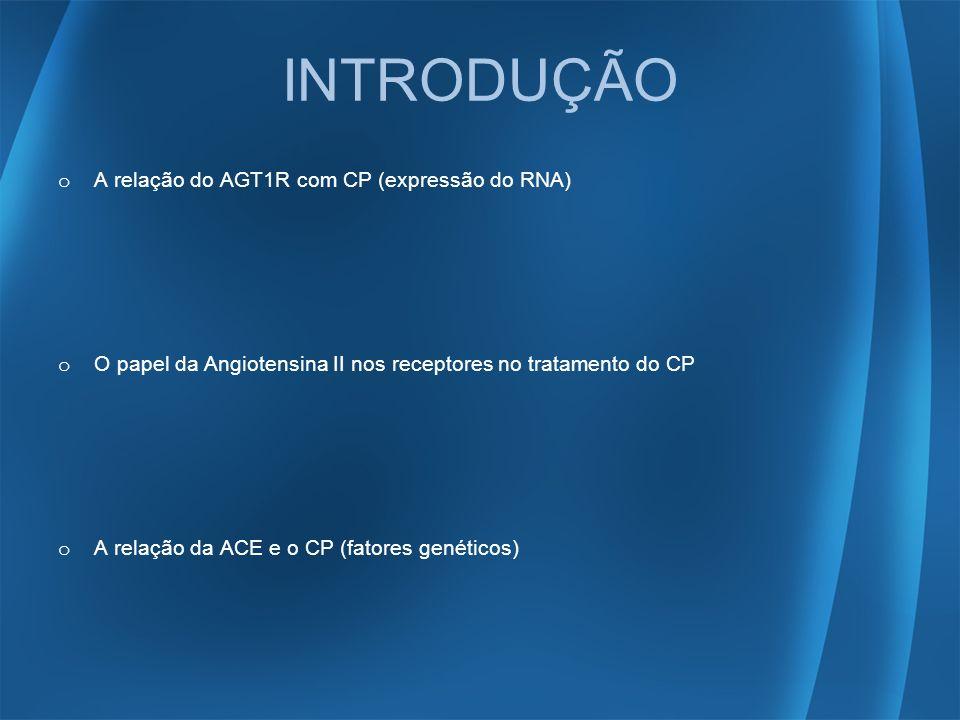 INTRODUÇÃO A relação do AGT1R com CP (expressão do RNA)