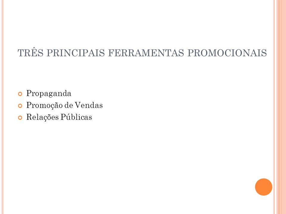 TRÊS PRINCIPAIS FERRAMENTAS PROMOCIONAIS