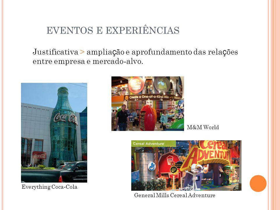 EVENTOS E EXPERIÊNCIAS