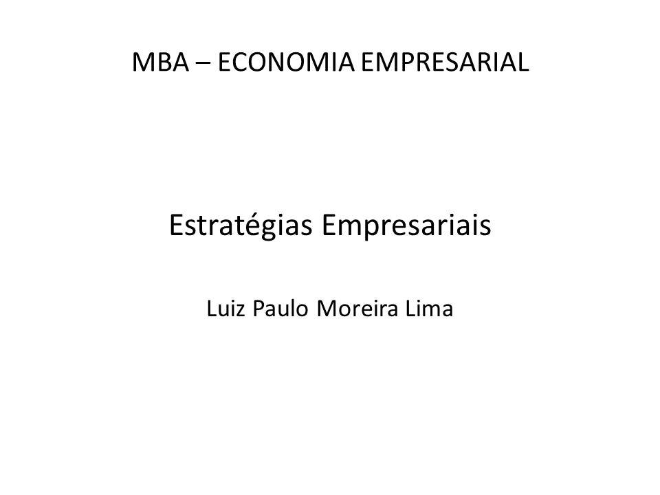 MBA – ECONOMIA EMPRESARIAL