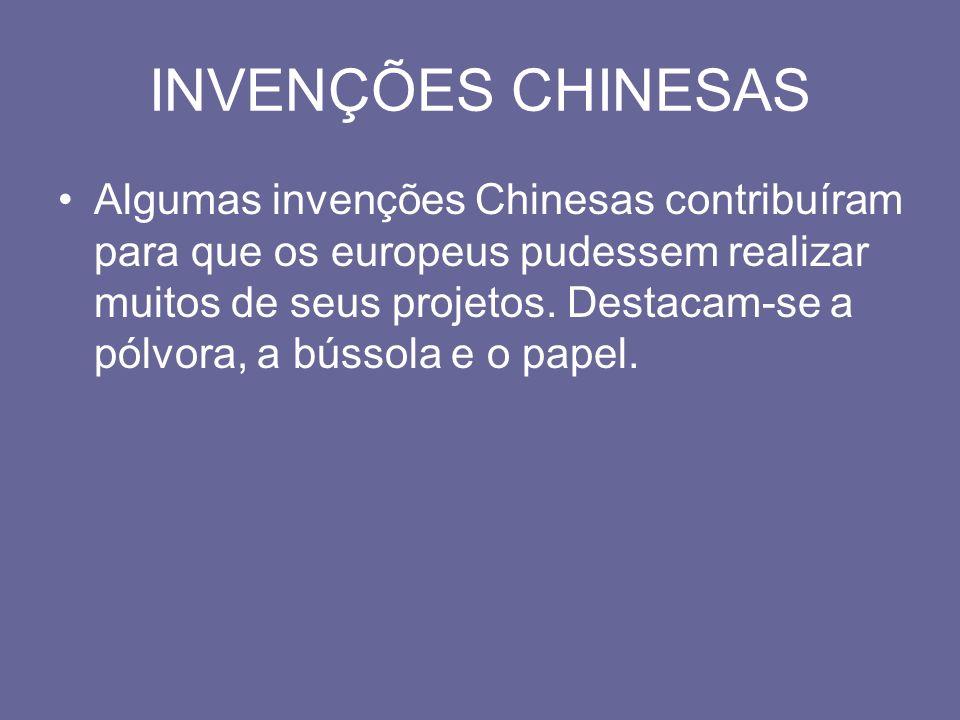 INVENÇÕES CHINESAS