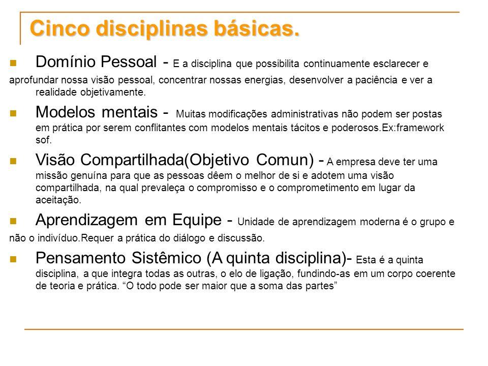 Cinco disciplinas básicas.