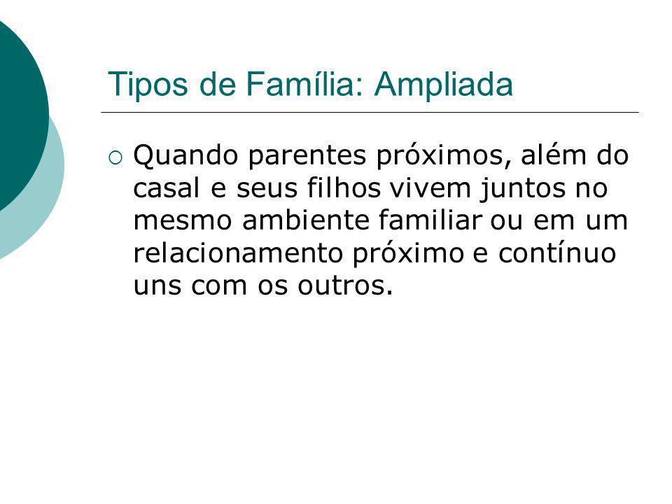 Tipos de Família: Ampliada