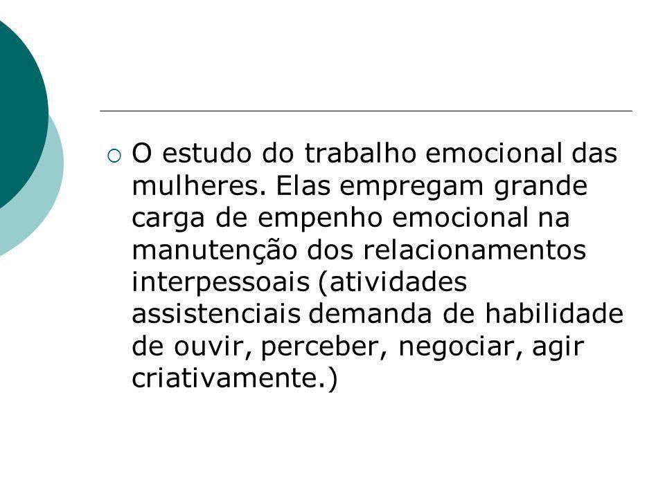 O estudo do trabalho emocional das mulheres