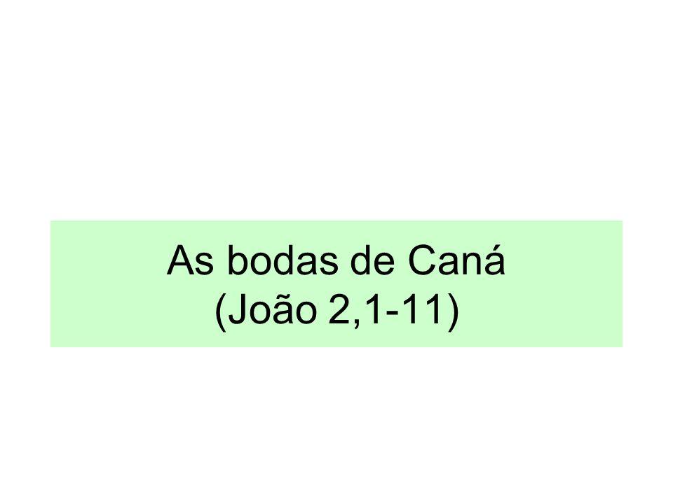 As bodas de Caná (João 2,1-11)