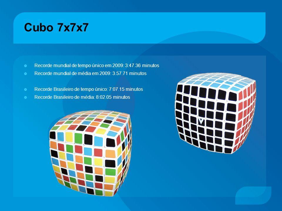 Cubo 7x7x7 Recorde mundial de tempo único em 2009: 3:47.36 minutos