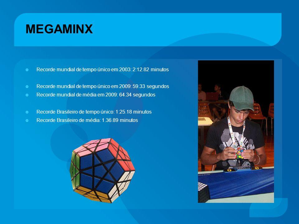 MEGAMINX Recorde mundial de tempo único em 2003: 2:12.82 minutos