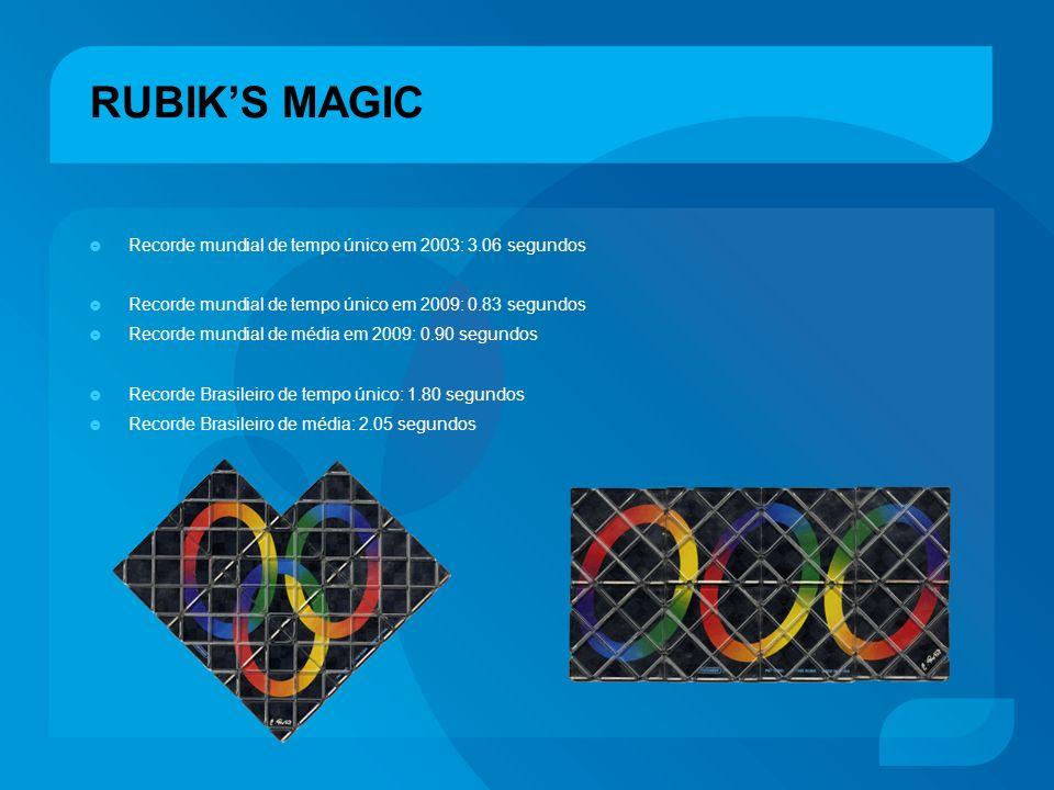RUBIK'S MAGIC Recorde mundial de tempo único em 2003: 3.06 segundos