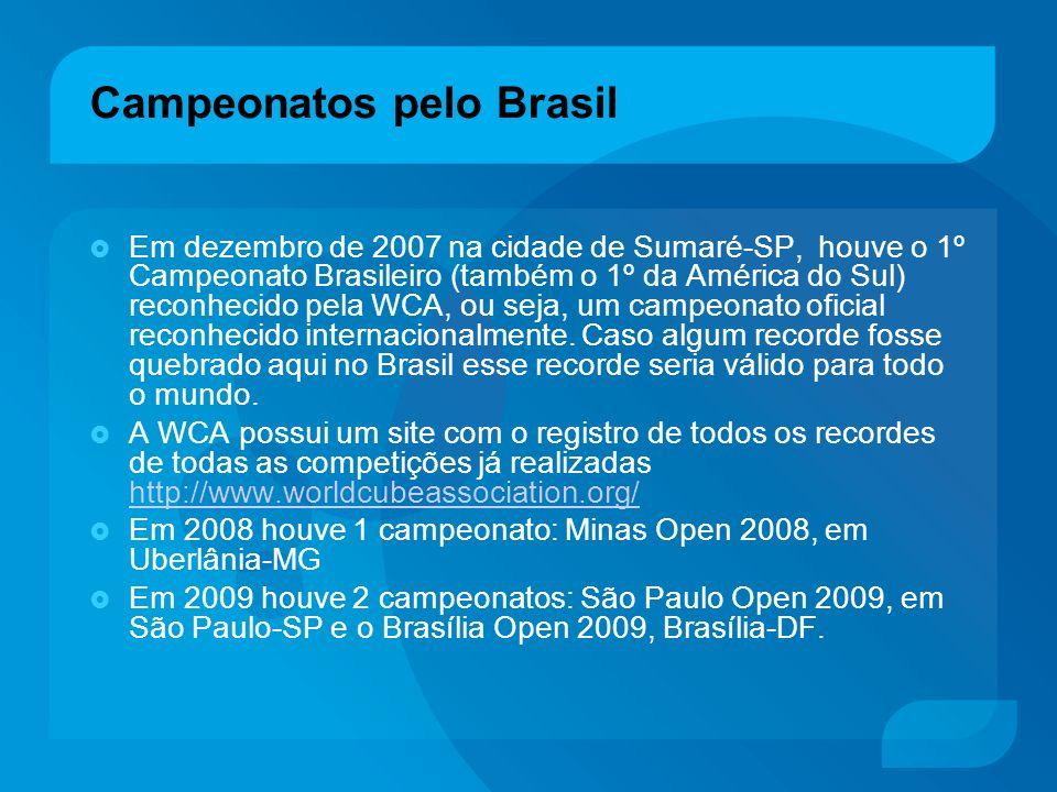 Campeonatos pelo Brasil