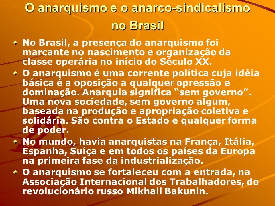 O anarquismo e o anarco-sindicalismo no Brasil