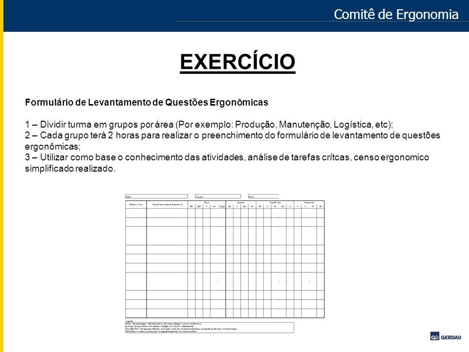 EXERCÍCIO Comitê de Ergonomia