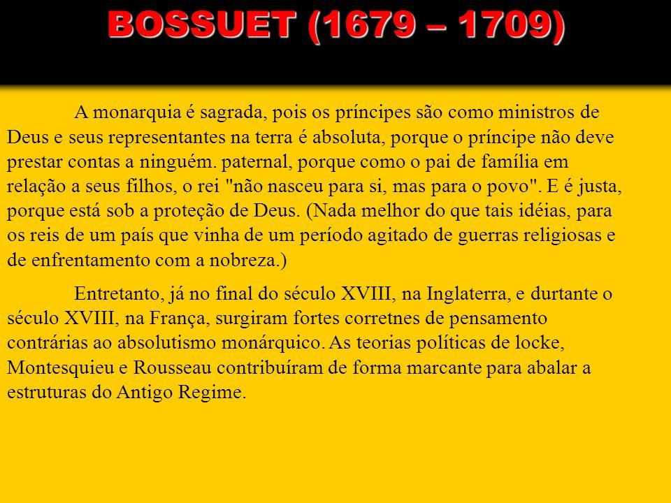 BOSSUET (1679 – 1709)