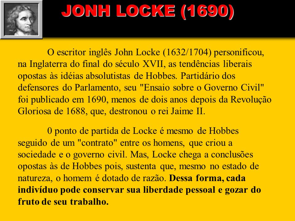 JONH LOCKE (1690)