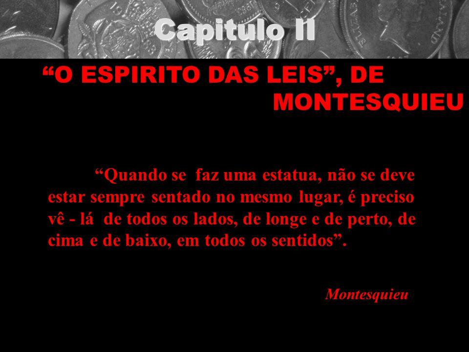 Capitulo II O ESPIRITO DAS LEIS , DE MONTESQUIEU