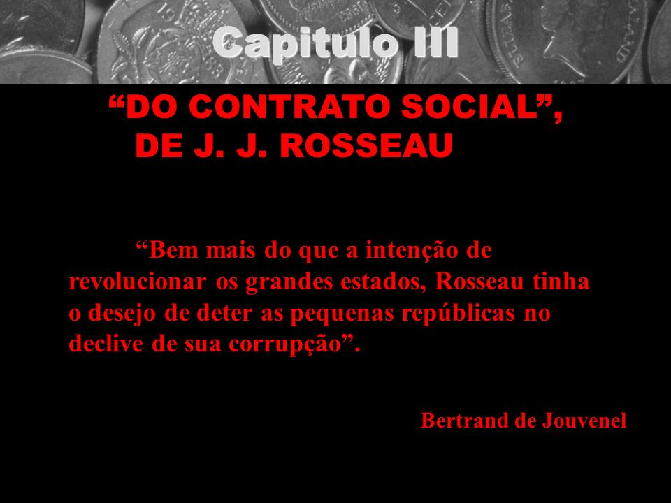 DO CONTRATO SOCIAL , DE J. J. ROSSEAU