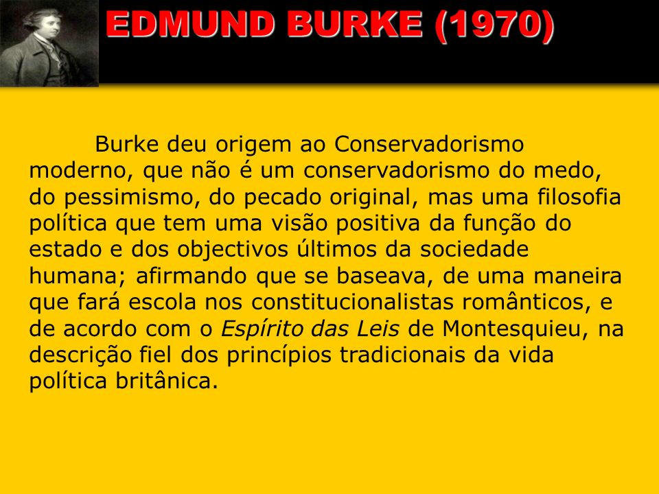 EDMUND BURKE (1970)