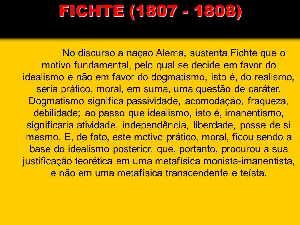 FICHTE (1807 - 1808)