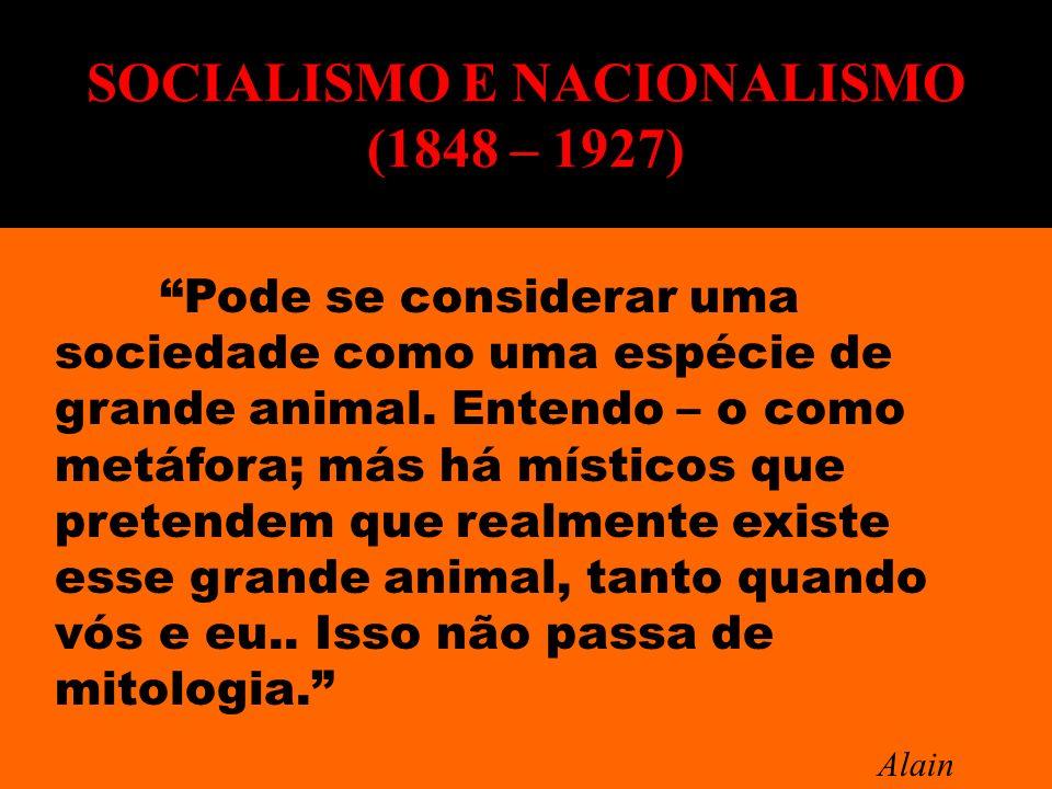 SOCIALISMO E NACIONALISMO (1848 – 1927)