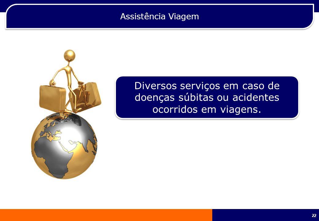 Assistência Viagem Diversos serviços em caso de doenças súbitas ou acidentes ocorridos em viagens.