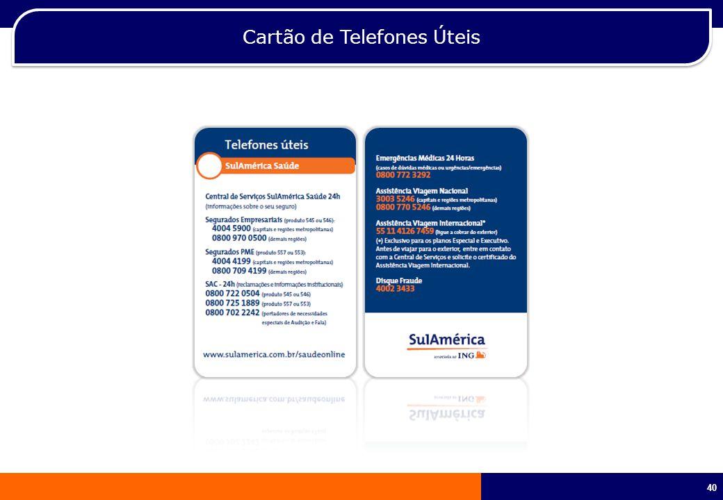 Cartão de Telefones Úteis