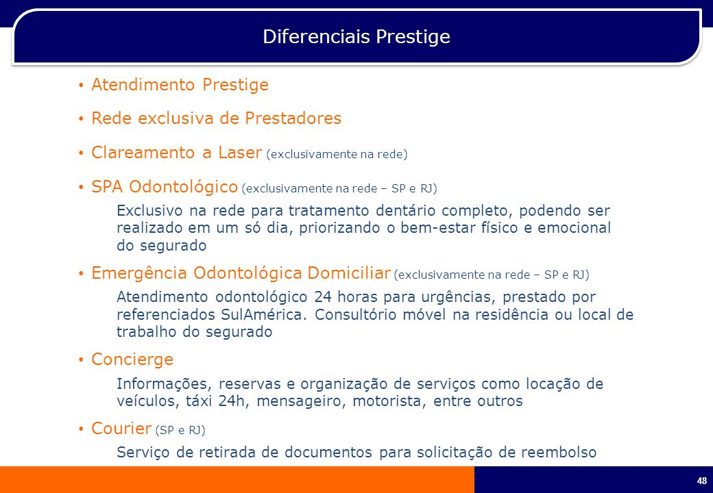 Diferenciais Prestige
