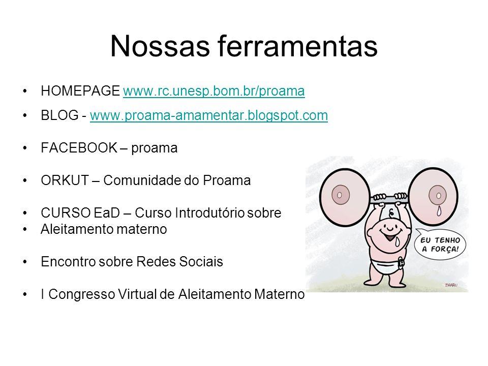 Nossas ferramentas HOMEPAGE www.rc.unesp.bom.br/proama