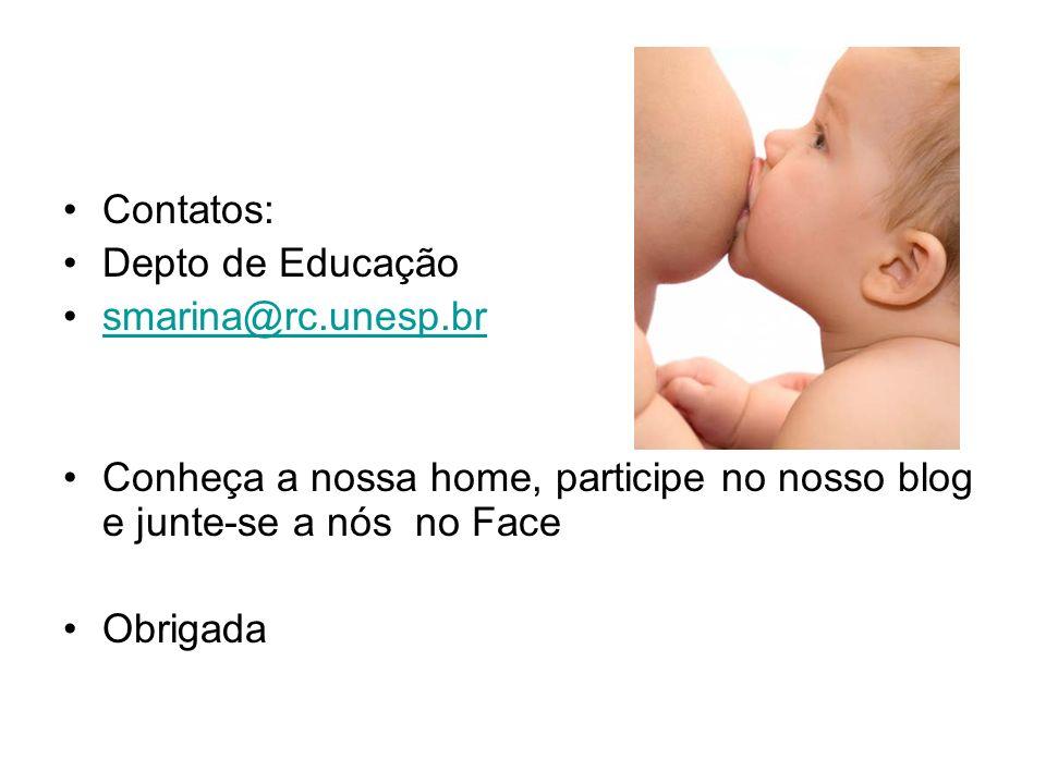 Contatos: Depto de Educação. smarina@rc.unesp.br. Conheça a nossa home, participe no nosso blog e junte-se a nós no Face.