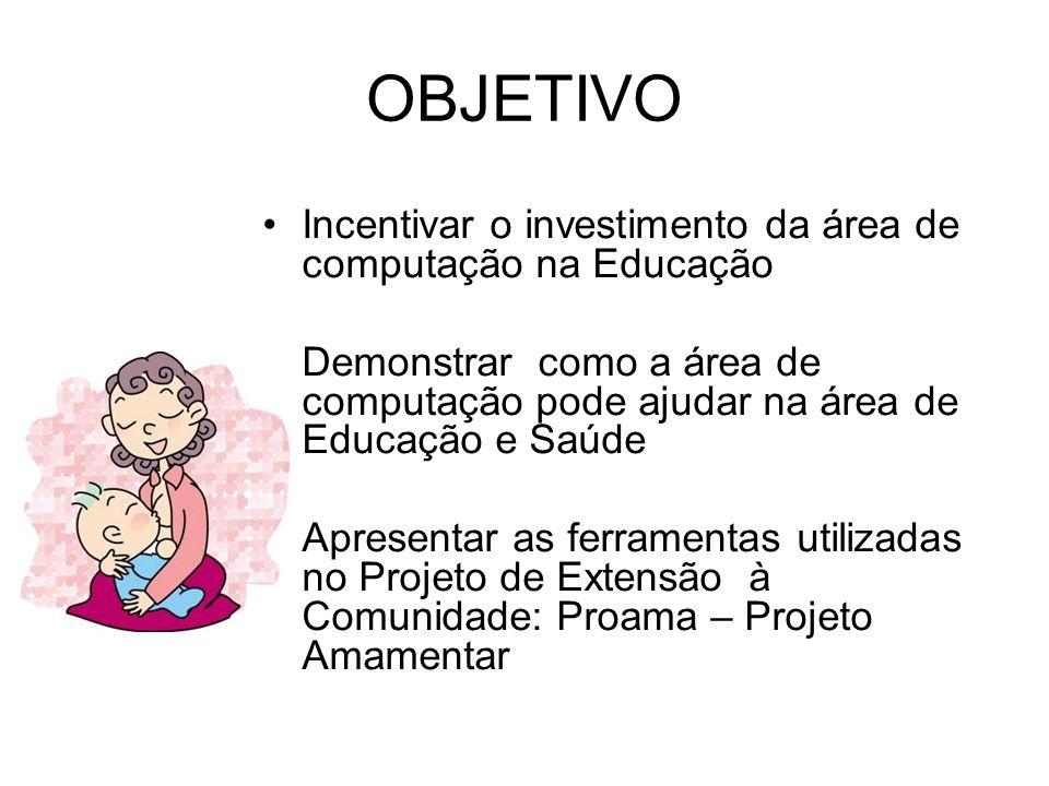 OBJETIVO Incentivar o investimento da área de computação na Educação