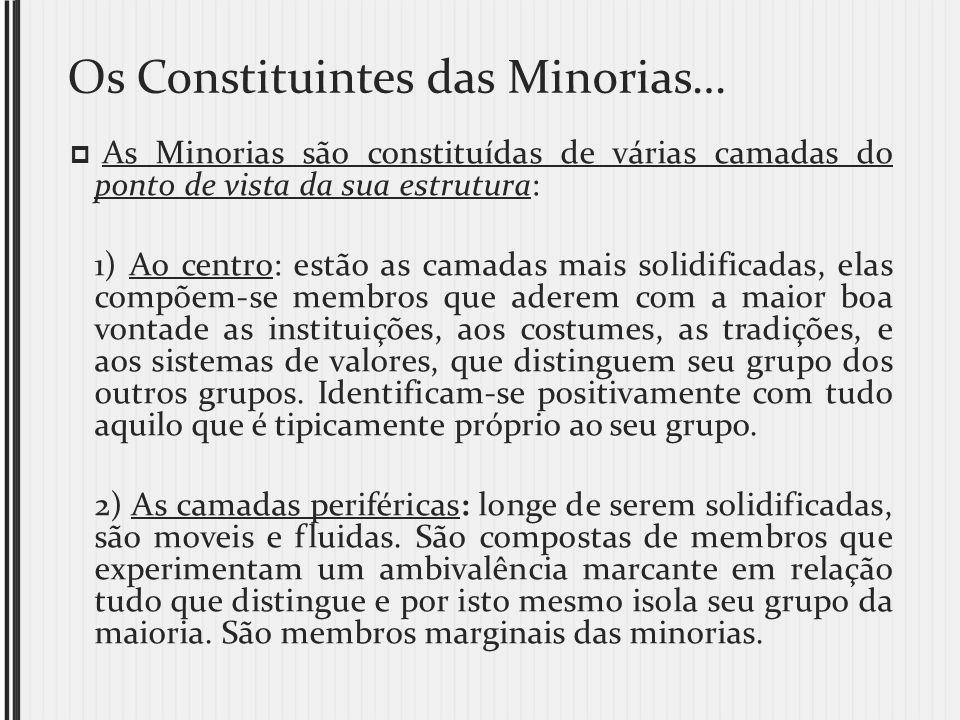 Os Constituintes das Minorias…