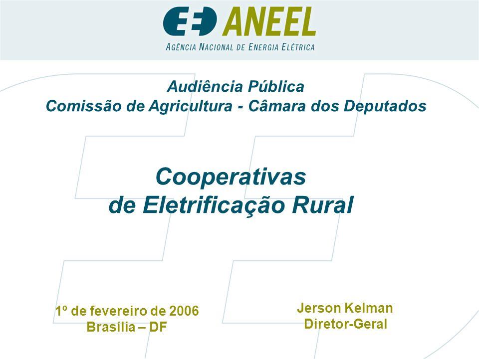 Comissão de Agricultura - Câmara dos Deputados de Eletrificação Rural