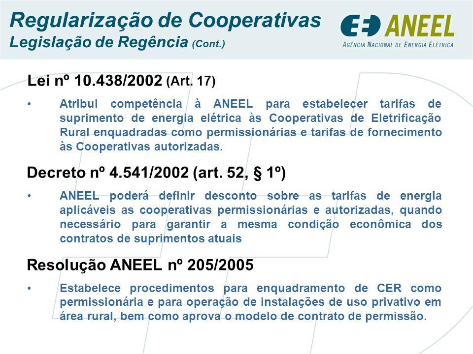 Regularização de Cooperativas