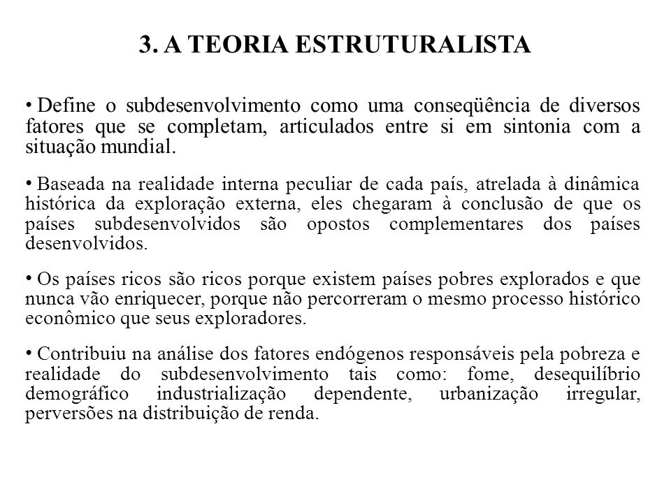 3. A TEORIA ESTRUTURALISTA