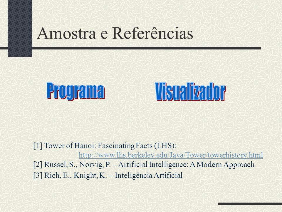 Amostra e Referências Programa Visualizador