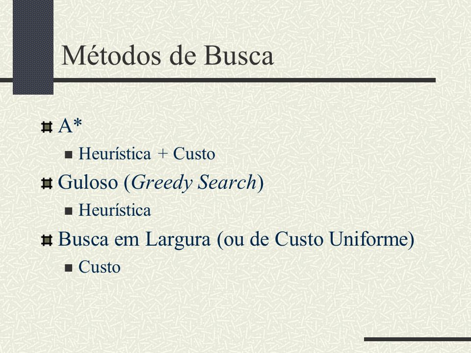 Métodos de Busca A* Guloso (Greedy Search)