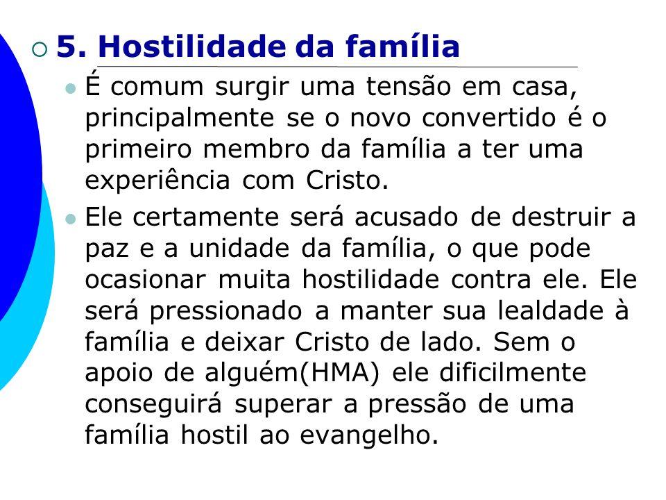 5. Hostilidade da família
