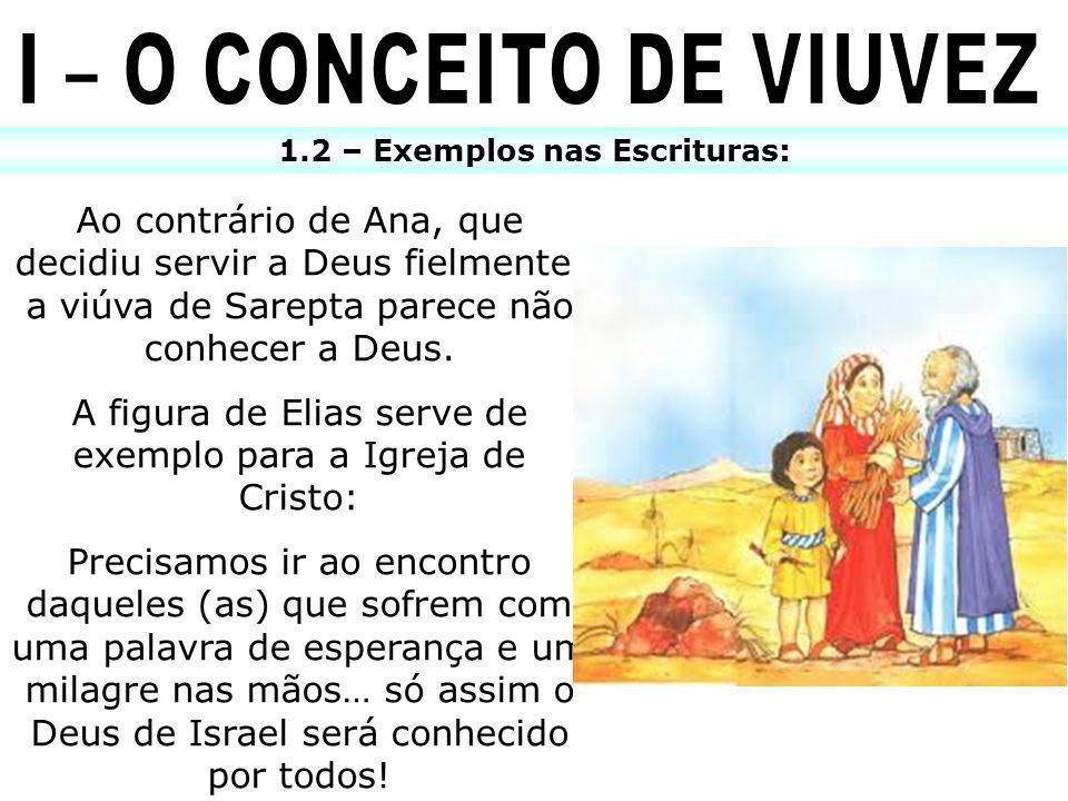 1.2 – Exemplos nas Escrituras: