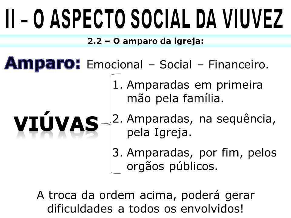 II – O ASPECTO SOCIAL DA VIUVEZ