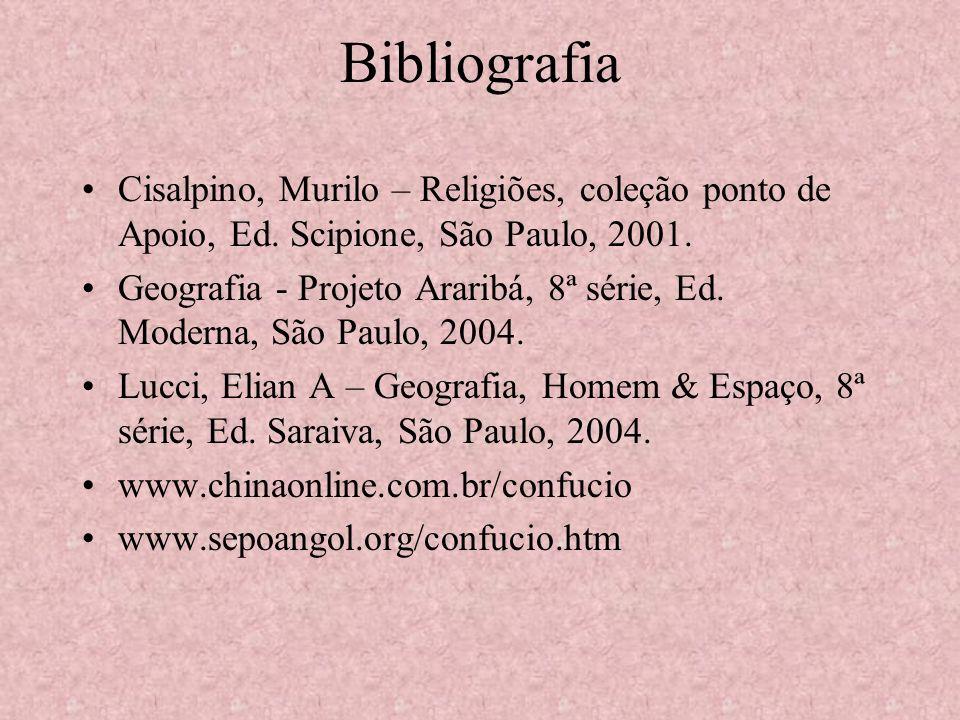 Bibliografia Cisalpino, Murilo – Religiões, coleção ponto de Apoio, Ed. Scipione, São Paulo, 2001.