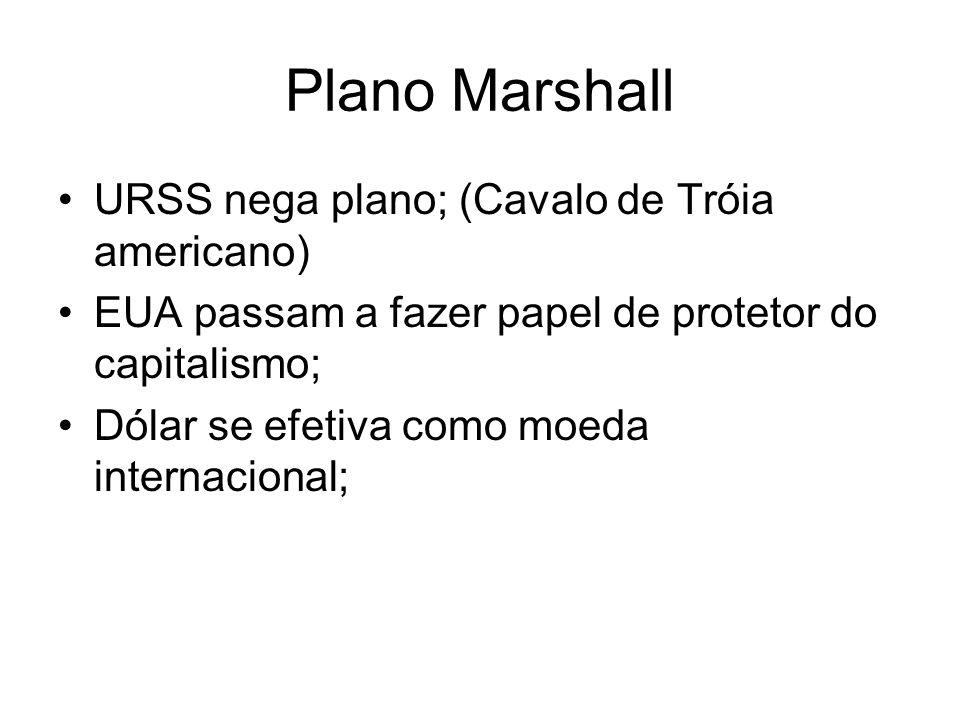 Plano Marshall URSS nega plano; (Cavalo de Tróia americano)
