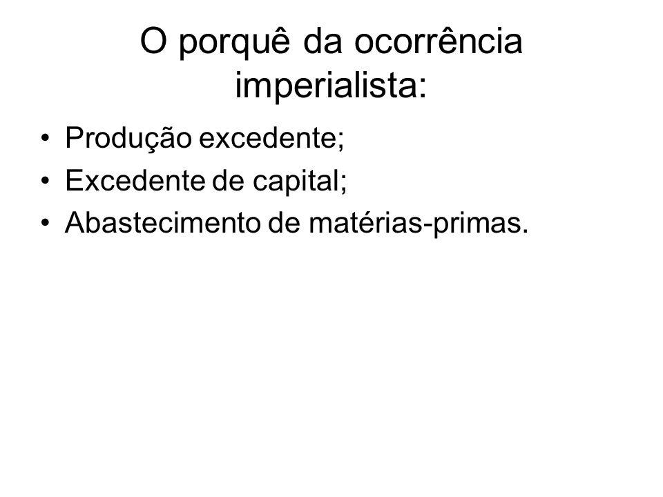 O porquê da ocorrência imperialista: