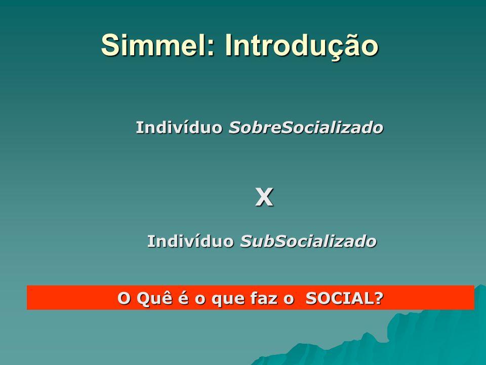 Indivíduo SobreSocializado Indivíduo SubSocializado