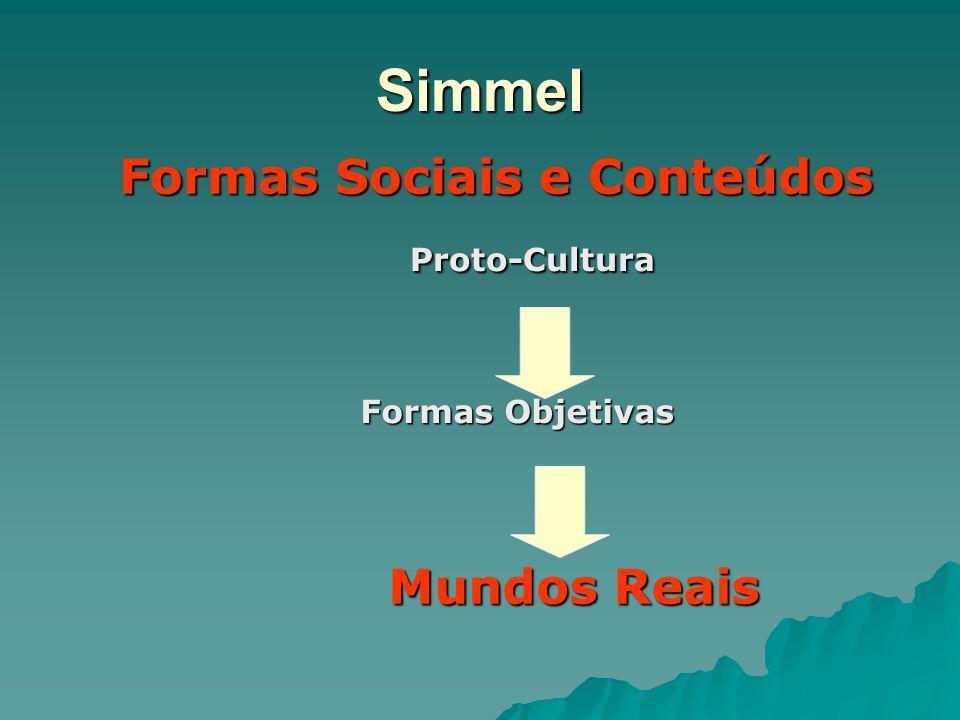 Formas Sociais e Conteúdos