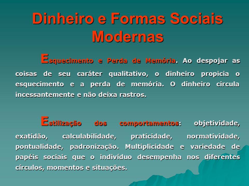 Dinheiro e Formas Sociais Modernas