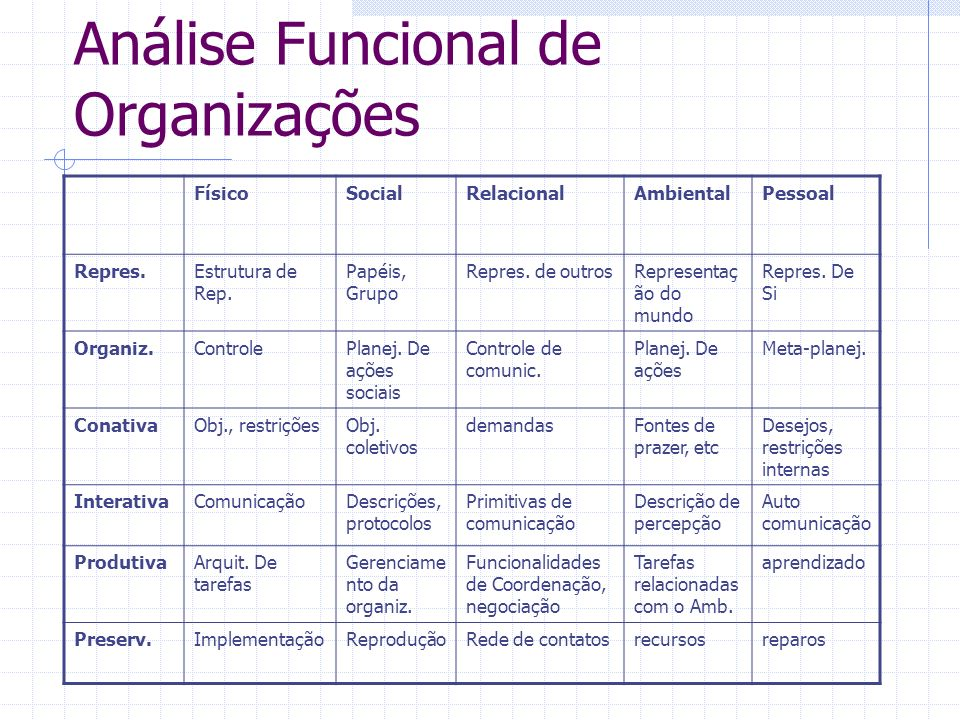Análise Funcional de Organizações